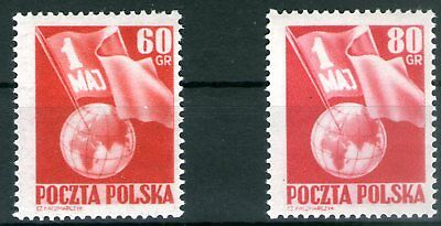 Poland 1953 Labor Day set of 2 Mint Unhinged