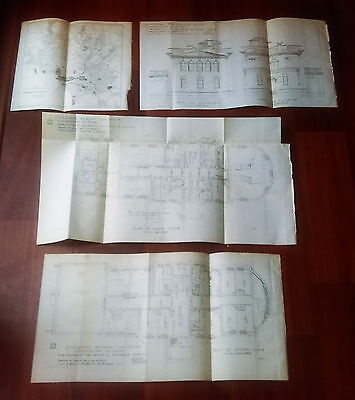 1899 Architectural Drawings of Providence Hospital and Washington DC Disease Map