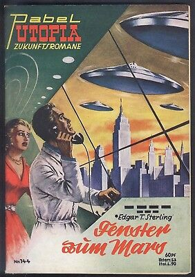 Utopia Zukunftsromane Nr.144 von 1955 - Z1-2 Science Fiction Pabel Romanheft