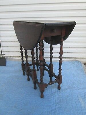 Nice Vintage Smaller Size Walnut Gate Leg Table circa 1940`s ?