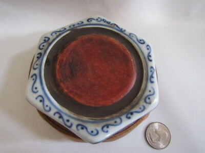 Nice antique Chinese porcelain blue&white inkstone