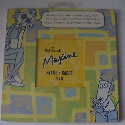 Hallmark Maxine Picture Frame 3x3 Photo 7x7 Camera Adds Pounds Wrinkles Humor