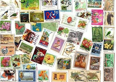A Lovely Selection Of All Different Kiloware Stamps From Malaysia