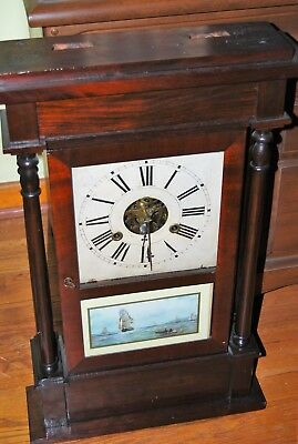 Beautiful antique William S Sperry weight driven clock