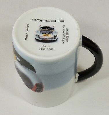 Porsche 550 Spyder Limited Edition 1163/5000 Made In Germany Coffee Tea Cup Mug