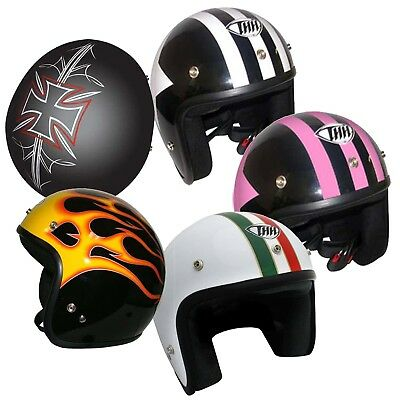 THH T380 Open Face Motorcycle Quad Bike Scooter Helmet 2XS-3XL