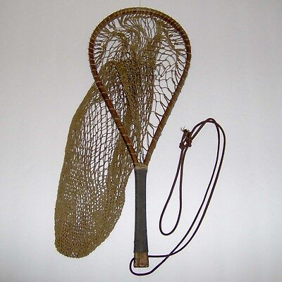 Antique Wooden Trout Landing Net * Awesome!