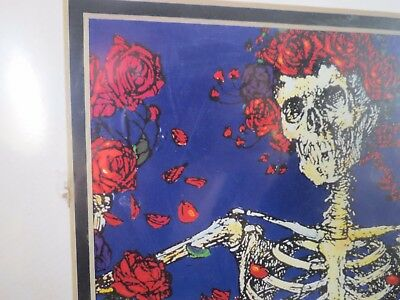STANLEY MOUSE SIGNED AUTOGRAPH BERTHA ART SKULL & ROSE Jerry Garcia poster print