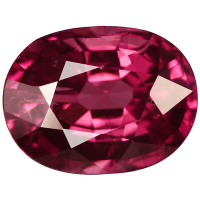 2.22 Ct Flashing Oval Cut 8 x 6 mm 100% Natural AAA Pinkish Red Rhodolite