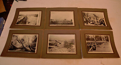 Lot of Vintage 6 Mounted Photos from World War I