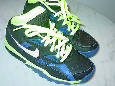 2012 Nike Air Trainer SC Black/White/Hyper Blue/Volt Youth Shoes Size 5Y $89.95