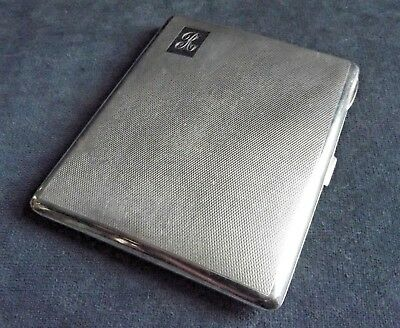 SUPERB Large ~ SOLID SILVER ~ CARD / Cigarette CASE ~ Bham 1936 by Wm Neale 131g