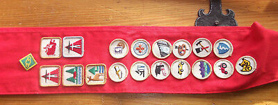 Scout Patches From Canada On A Sash, In Vg Condition (And)