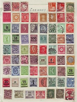 """Old  Europe    German Area  Used & Mint   1 Page  """""""" 65 """""""""""" + Stamps Unsorted"""