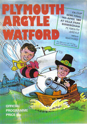 1984  PLYMOUTH ARGYLE  v  WATFORD  (FA CUP SEMI-FINAL)