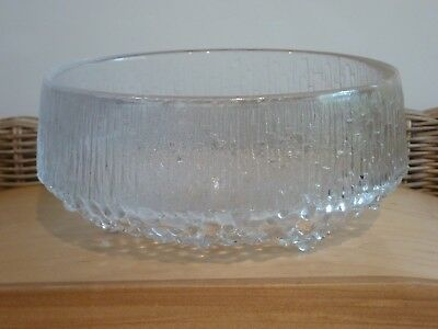 """IITTALA """"ULTIMA THULE"""" 3 Toed Footed Bowl by Timo Sarpaneva  - Made in Finland"""
