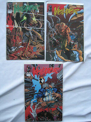 VIOLATOR : COMPLETE 3 ISSUE 1st Mini SERIES by ALAN MOORE. SPAWN. IMAGE. 1994