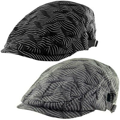 HERRINGBONE TWEED GATSBY Newsboy cappello edera Golf Driving piatto ... c79ec6c0dbdf