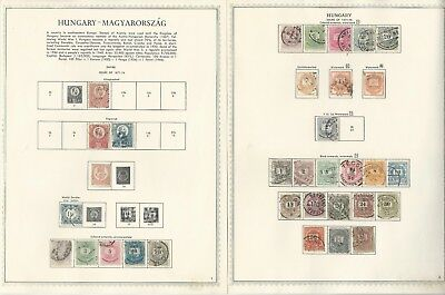 Hungary Collection 1871 to 1951 on 56 One-Sided Minkus Specialty Pages