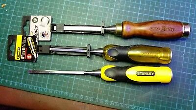 new Stanley Wood chisels Bailey and fatmax