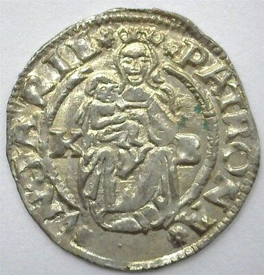 Ferdinand I 1542-Kb Silver Denar -Madonna & Child- Uncirculated