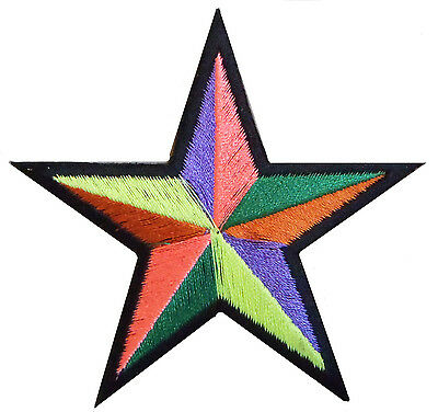 patch badge patch star multicolored star hotfix DIY embroidered