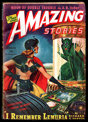 AMAZING STORIES:U.S.Ed.March 1945-Richard Shaver [Lemuria Story],Ray Palmer