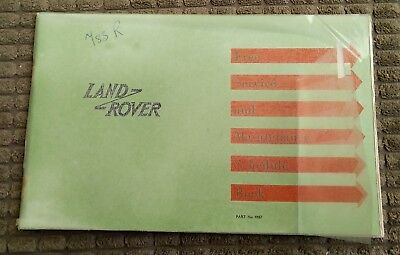 Land Rover Series 2 2a Service Log Book Good Condition 1964 FREE UK POSTAGE