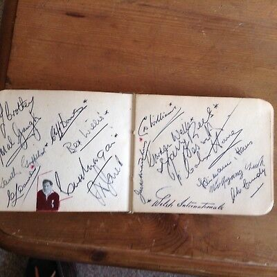 Rugby autograph book