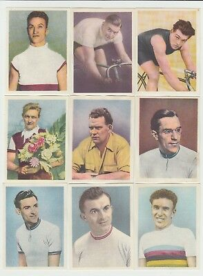 Cycling : Famous Cyclists : 1950s Dutch sports card group - 22 different cards