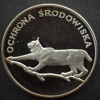Poland 1979 Silver 100 Zlotych -Lynx Proba Pattern- Perfect Proof Dcam Y#104