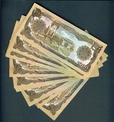 Afghanistan 1000 Afghanis Note Gem Uncirculated Nice 20 Note Collection