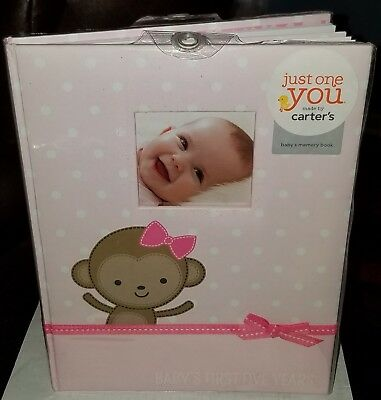 2003 Carter's Baby Girl Pink Keepsake Book Album First Five Years Brand New
