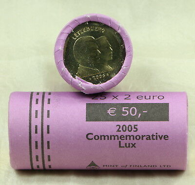 2 Euro Rolle Roll Luxemburg Luxembourg 25 Münzen Coins Henri Guillaume 2006