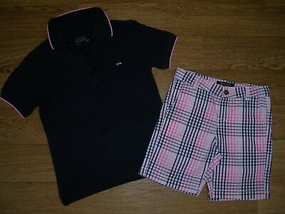 MAYORAL Boys Navy Blue Polo T-Shirt Check Shorts Spring Summer Outfit Age 4 104