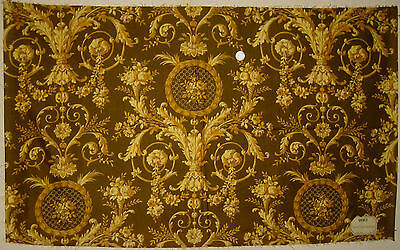 Antique Beautiful 19th C. French Neoclassic Cotton Print Fabric (9083)