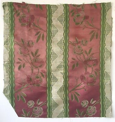 Beautiful, Rare 18th Century Silk French Woven Brocade Fabric (2190)