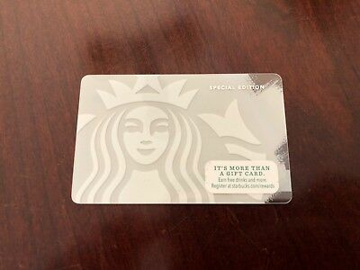 2014 Starbucks Coffee White Mermaid Siren Logo Special Edition Gift Card