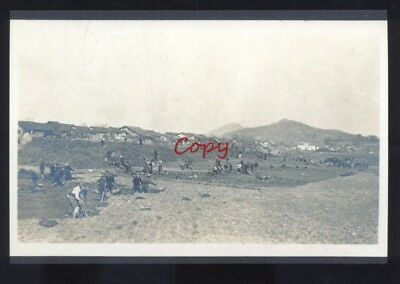 Real Photo Hunan China Chinese Military Army Workers Postcard Copy