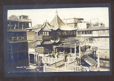 Real Photo Shanghai China Willow Tea House Chinese Postcard Copy