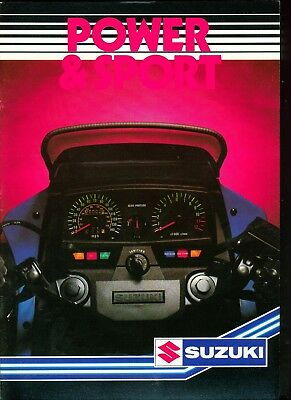 1984 Suzuki Motorcycles Sales catalogue Brochure GS250T, GSX250E, GSX400E etc