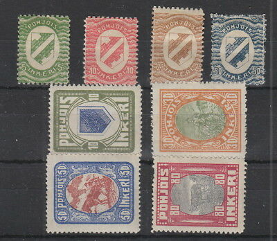 North Ingermanland , 8 stamps MH