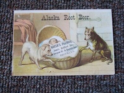 "Old VICTORIAN ""ALASKA ROOT BEER"" TRADE CARD....Brooklyn, New York"