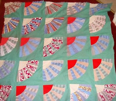 Nice Part Quilt Top Grandmothers Fan Pattern