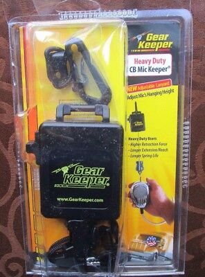 New GEARKEEPER Mic Retractor,42in. L,Black,Plastic,Snap RT3-4112 free shipping