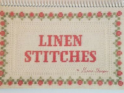 How to Stitch on Linen Instruction Spiral Bound Book 54 Pat and Gloria Vintage