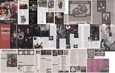 MOTORHEAD : CUTTINGS COLLECTION -adverts interviews-