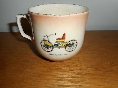 Vintage Shaving Mug Ford's First Car 1896 Antique Shaving Cup/mug