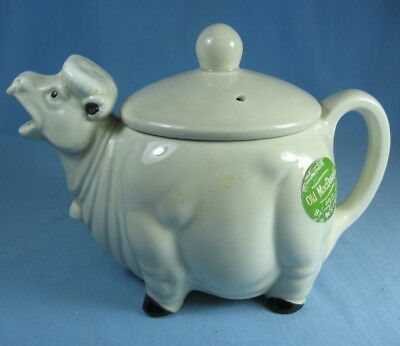 Vintage Figural COW ~ Old MacDonald TEAPOT by Westwood made in Japan NWT