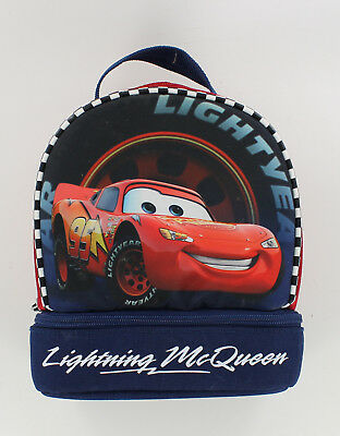 Disney Cars Lunch Bag Box - Lightning McQueen - Navy & Red - 2 Compartments